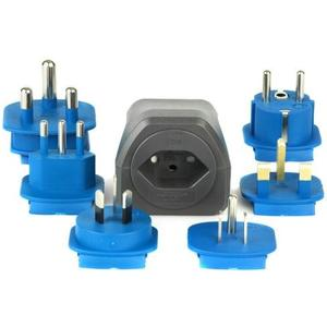 Reiseadapter für 3-pol/2-pol Anschlüsse Universal Steckdosen Adapter