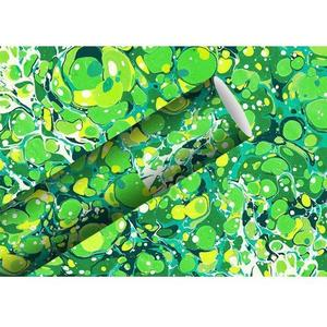 B+C Geschenkpapier 2 m x 70 cm Venice Marble, grün