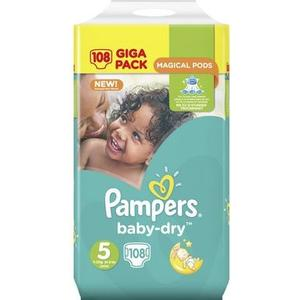 Baby Dry Giga Pack Gr. 5 Junior, 108 Stk.