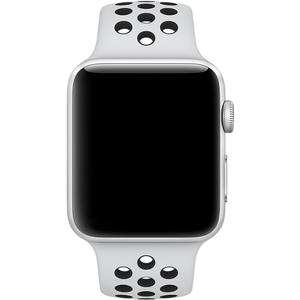 Watch Series 3 GPS + Cellular Nike+ (Aluminium) silber - 38mm - Sportarmband Pure platinum/schwarz