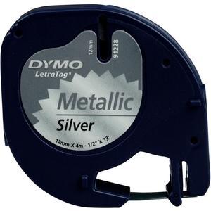 LetraTag Metall, schwarz auf silber