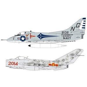 Mig 17F A-4B Skyhawk 1:72 Dogfight Double