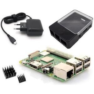 Raspberry Pi 3 Typ B+ Light Starterkit Inkl. Pi 3 B+,Netzteil, Kühlkörperset, Case