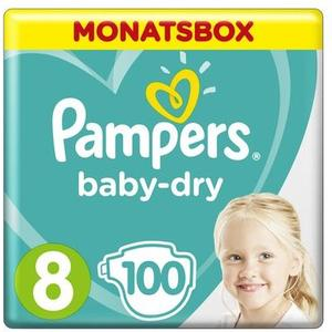 Baby Dry Gr.8 Extra Large 17+kg MonatsBox 100Stk.