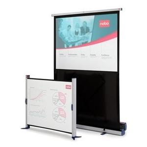 Projektionswand Mobil 160x120cm Projektionswand mit Scherengelenk, Alu-Box,