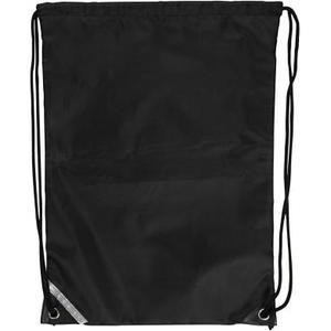 Turnbeutel schwarz 1 Stück, 31 x 44 cm, Polyester
