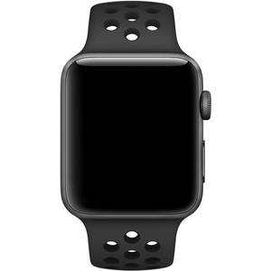 Watch Series 3 GPS Nike+ (Aluminium) space grau - 38mm - Sportarmband anthrazit/schwarz