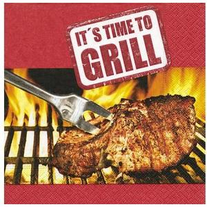 Its time to grill Servietten 33x33 cm, 20 Stück