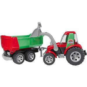 Traktor mit Frontlader und Kippanhänger