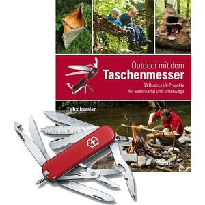 MiniChamp rot, mit Handbuch 'Outdoor mit dem Taschenmesser'