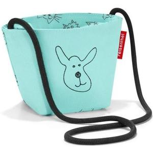 Schultertasche minibag kids cats and dogs mint, 0.5 l, 21 x 12 x 10 cm