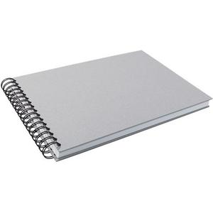 Kunst + Papier Spiral-Skizzenbuch, grau 110 Seiten, A4 quer, 130gm