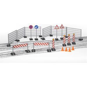 Baustellenset: Zäune, Schilder und Pilonen