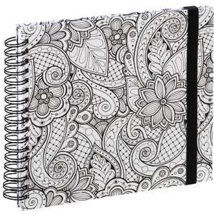 Spiral-Buch Colorare, 28x24 cm, 50 weiße Seiten, Ranken