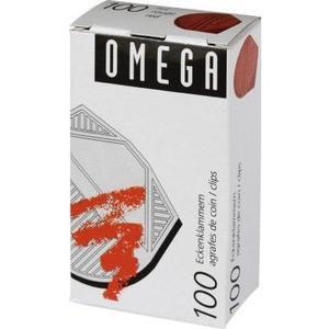 Omega Eckenklammern 100 Stück, rot metallic