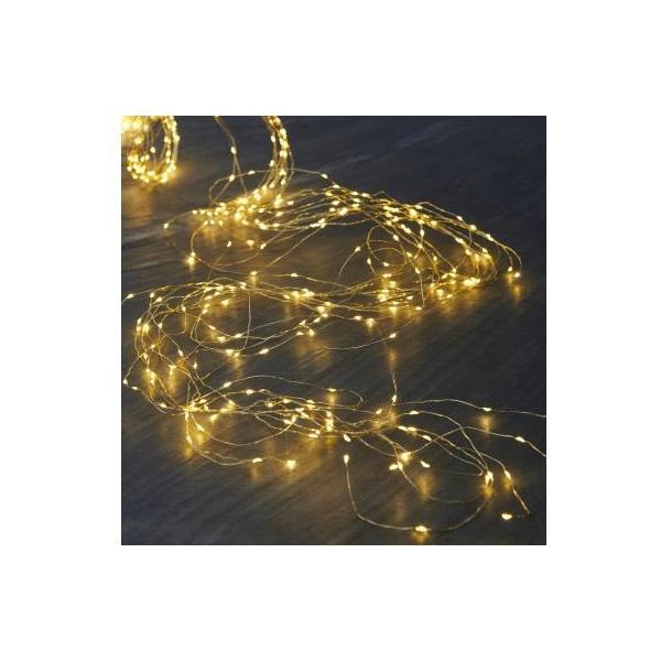 LED Lichterkette Knirke, 200 LED Kabel transparent, gold