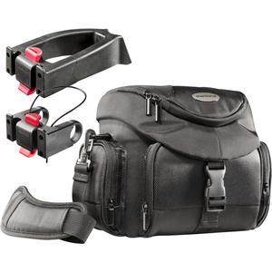 Set Premium Biker Fototasche mit 2 Adapter - schwarz