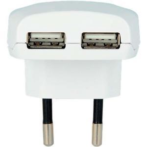 Reise-Adapter Europa USB ohne Schutzkontakt
