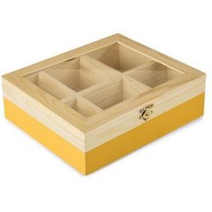 Teebeutel Box 6 Sorten gelb Fassungsvermögen 60 Teebeutel, blau