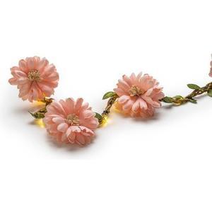 Lichterkette Batterie Flower Rosa 20 LED WW, Timer 6/18h, exkl. Batterie