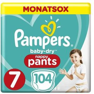 Baby Dry Pants Gr.7 Extra Large 17+kg MonatsBox 104Stk.
