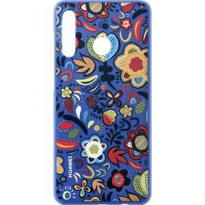 PC Cover Floral für P30 Lite - blau