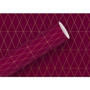 B+C Geschenkpapier Geometric rubin Grösse: 70cm x 1.5m Gramm: 83g/m2