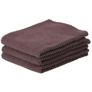 Geschirrtuch 3er Set violett 100% Baumwolle, 27x27cm