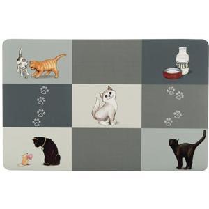 Napfunterlage Patchwork Cat 44 x 28cm, grau