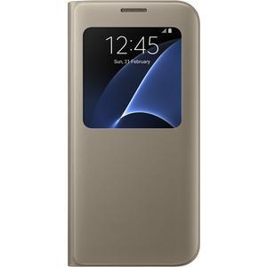 S View Cover für Galaxy S7 Edge - gold