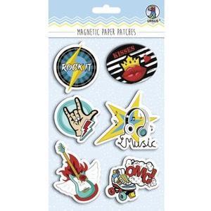 Haftmagnet Paper Patches Rockstar 6 verschiedene Designs