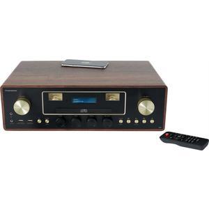 Bigben - CD/MP3/USB Micro System With Wireless MIC256IDABBT - wood/brown