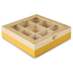 Teebeutel Box 9 Sorten gelb Fassungsvermögen 60 Teebeutel, blau