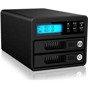 ext. 2x 2.5/3.5 Gehäuse GR3680-SB3 schwarz, USB3.0, für 2xSATA HDD