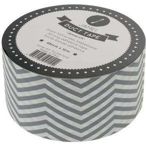 Klebeband Stripes grey Grösse 48mmx10m, grey