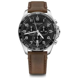Fieldforce Classic Chrono Ø42, black D, black B, brown lea strap