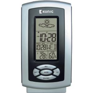Thermo-Hygrometer Wetterstation Innen Grau