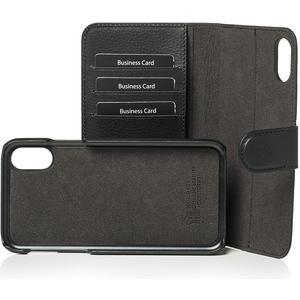 Echtleder Wallet-Cover Joss für Apple iPhone X - schwarz