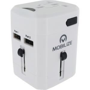 Reise-Adapter World USB ohne Schutzkontakt