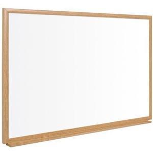 Whiteboard 150 x 100 cm Stahloberfläche, mit Holzrahmen Eiche