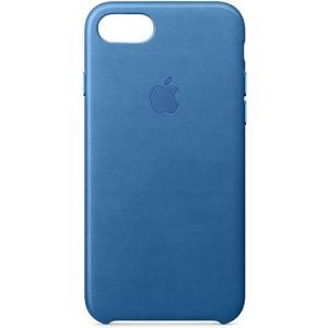 iPhone 7/8 Leder Case - meerblau