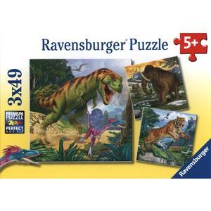 Herrscher der Urzeit - Puzzle [3x 49 Teile]