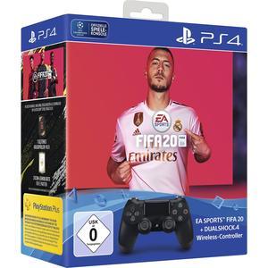 Dualshock 4 Wireless Controller - schwarz inkl. FIFA 20 [PS4]
