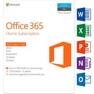 Office 365 Home 5 Benutzer 1 Jahr Englisch