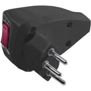 Reset Stecker T12 schwarz mit Resetschalter für Überstromschutz