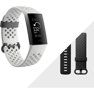 Charge 3 SE - graphit-grau - (NFC, frostweißes Sport-Armband)