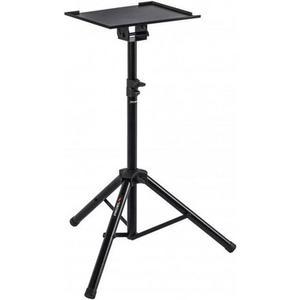 KP875, Projektionstisch schwarz höhenverstellbar 92-140cm, Ablage: 39x29cm