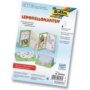 Leporellos Karten 300g/m2 3 Stück, 10.5 x 15.5, maigrün