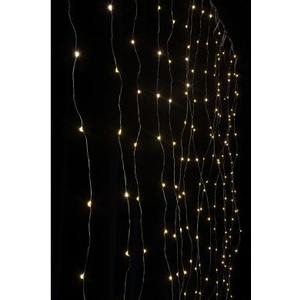 Lichtervorhang LED Angel Hair Curtain 1.6x1.6m, 256 LED warmweiss, indoor, 4.8W