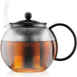 Assam Teebereiter mit Edelstahlfilter, Kunststoffgriff und Kunststoffdeckel, 1.0 l